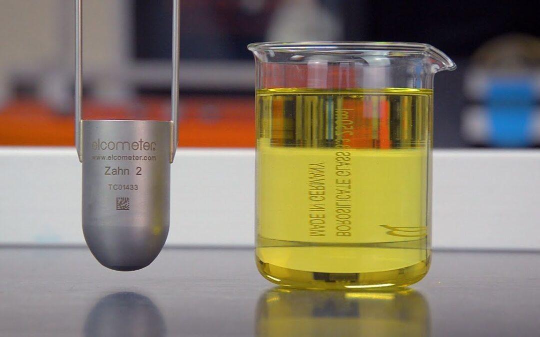 اندازهگیری ویسکوزیته با استفاده از فنجان اندازهگیری (Zahn Cup)